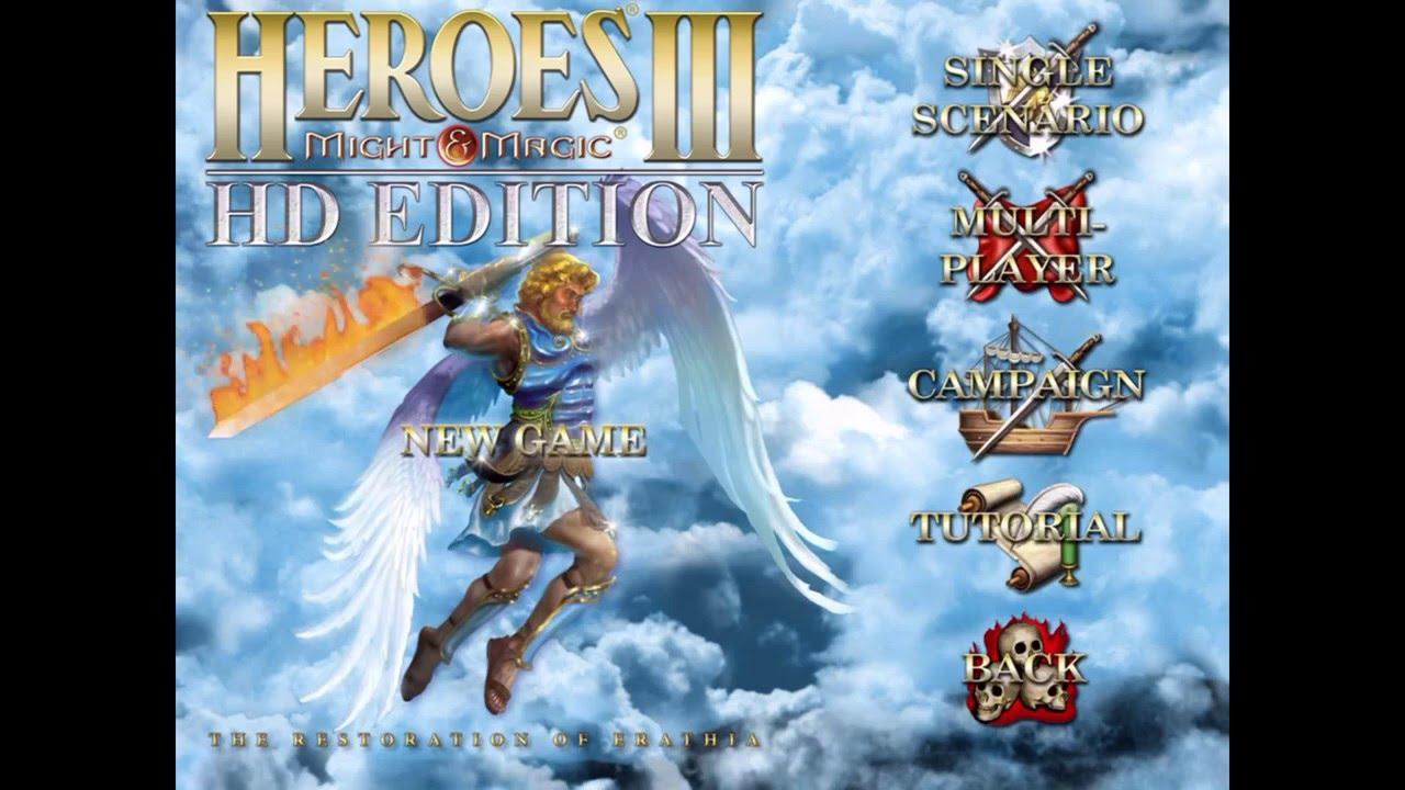 Heroes 3 menu